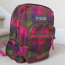 Jansport Trans Bright Color Plaid Backpack Photo