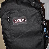 Jansport Trans Megahertz Ll Black Backpack With Laptop Computer Sleeve Nwt  Photo