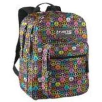 Jansport Trans Supermax Black Multi Hippy Hand Backpack Book Bag School Bag Photo