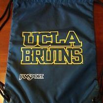 Jansport Ucla Bruins Quick Draw College Drawstring Gym Bag Navy Gold White Logo Photo