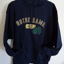 Jansport University of Notre Dame Sweatshirt Mens Large Navy College Hoody Photo
