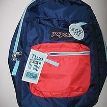 Jansport Versatile 2-in-1 Packstring Bag Navy/coral Dusk Color Backpack 62 Photo