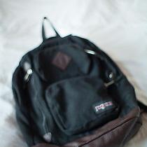 Jansport Vintage Black/leather Backpack Rucksack 15