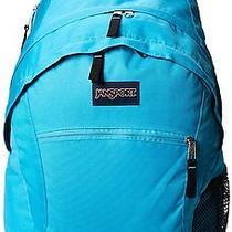 Jansport Wasabi Backpack Backpack Blue Solid College School Tote Carry-on Bag   Photo