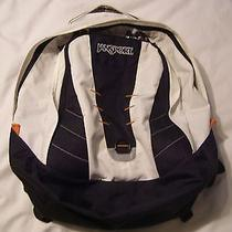 Jansport White/black Backpack School Hiking Outdoor 18