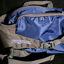 Jansport Xl Fanny Pack Sling Black Nylon Canvas Hiking Photography Music Pocket Photo