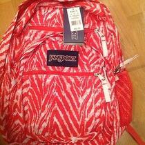 Jansport Zebra Stripe Coral Wild at Heart Big Student Laptop School Bag Backpack Photo