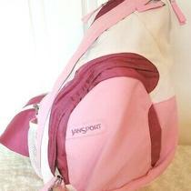 Jansports Airlift Womens Xl Pink White Nylon Sling Daypack Backpack School Bag Photo