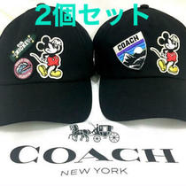 Japan Only Disney X Coach Mickey Mouse Baseball Hat From Japan Photo