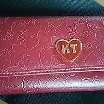 Japanese Sanrio Hello Kitty Wallet  Red Press Fake Leather Type Very Cute Rare Photo