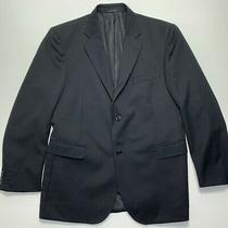 Jason Campbell Mens Solid Black Wool Sport Coat Blazer 42r Photo