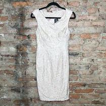 Jax Black Label Dress Size 4 Xs Blush Pink Lace Overlay Bodycon Photo