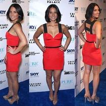 Jay Godfrey Red Triangle Cup Dress 2 Photo