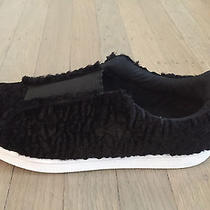 Jc Play by Jeffrey Campbell Black Faux Fur Sneakers Size 8.5/9 New No Box Photo