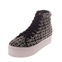 Jc Play by Jeffrey Campbell Sneakers Size 39 Uk 6 Tweed Panel Platform Sole Photo