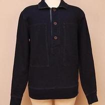 Jcrew 148 Wallace & Barnes Indigo Fleece Workshirt S Photo