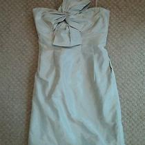 Jcrew Bow Monde Dress in Silk Taffeta Sz 2 Grey  Photo