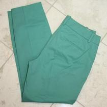 Jcrew Cafe Capri Pants Cropped Cotton 90 Tropical Aqua 12 Photo