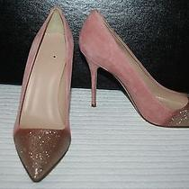 Jcrew Collection Roxie Glitter Suede Pumps Size 9m Quartz Photo