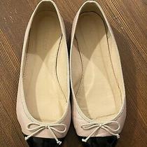 Jcrew Gemma Two Tone Cap Toe Flats Blush Pink Black Patent 5.5 M Photo