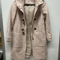Jcrew Hooded Blush Pink Toggle and Zip Closure Wool Jacket Coat Sz 0petite Photo