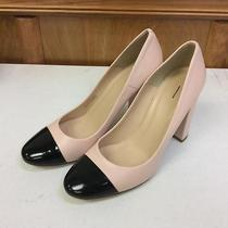 Jcrew Lena Leather Pumps Patent Cap Toe 250 8 Heels Shoes F5587 Faded Blush Photo