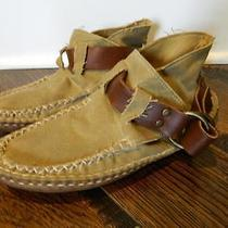 Jcrew Quoddy Ring Canvas Boots 10 300 Natural Shoes 36310 Photo