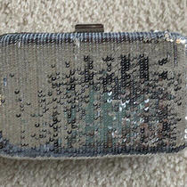 Jcrew Sequin Silver Evening Clutch Nwt Photo