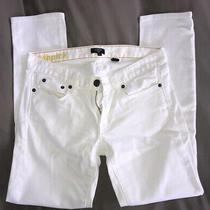Jcrew Size 26 White Toothpick Skinny Jeans Vguc Hudson Madewell J. Crew Photo