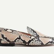 Jcrew Smoking Slipper Size 9.5 Color Natural Snakeskin New Without Box Photo