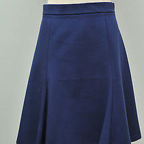 Jcrew Structured a-Line Skirt Fluted New A9969 98 Midnight Blue 0 Photo