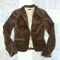 Jcrew Velvet Jacket Size 2 Brown Photo