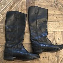 Jcrew Womens Black Leather Boots Size 7  Photo