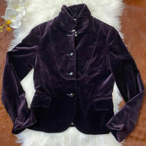Jcrew Womens Purple 100% Cotton Eden Velvet Lined Blazer Jacket Size 8 85794 Photo