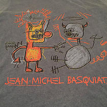 Jean Michel Basquiat T-Shirt Medium Junk Food for Urban Outfitters Multi-Color  Photo