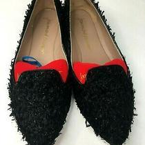 Jean-Michel Cazabat Women Black Flat Loafers With Texture Sz 8.5 Photo