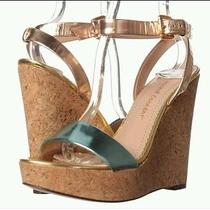 Jean-Michel Cazabet Wedge Sandal -Rose Gold Platinum 9.5 M - reg.275 Free Ship Photo