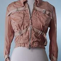 Jean Paul Gaultier 998 Blush Pink 3/4 Sleeve Corset Style Jacket Size 40 Small Photo