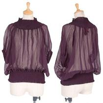 Jean Paul Gaultier Classique Gathered See-Through Blouse(k-28227) Photo