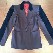 Jean Paul Gaultier Classique Womens Size 8 Brown/black Wool Velvet Blazer Jacket Photo