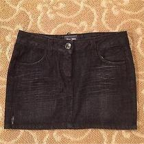 Jean Paul Gaultier Denim and Leather Tie Skirt Size 40 Photo