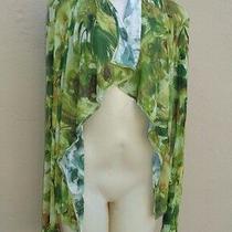 Jean Paul Gaultier Fuzzi Flower Print Open Front Jersey Shawl Sweater / Top Sz M Photo