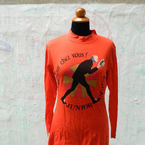 Jean Paul Gaultier Junior Shirt Punk Grunge Xl Boho Chic Orange Logo Vintage Photo