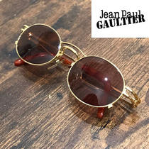 Jean Paul Gaultier Sunglasses Dead Stock 90s Oval Frame Yellow Gold Frame 86a9mn Photo