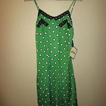 Jean Paul Gaultier Target Womens Green Polka Dot Vintage Style Slip Dress Large Photo