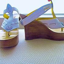 Jean-Paul Gaultier White Leather Wedge Sandals sz.41/11 Us Photo