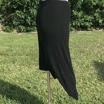 Jean Paul Gualtier Femme Black Stretch Asymmetric Skirt Sz 10 Nwt Made in Italy Photo
