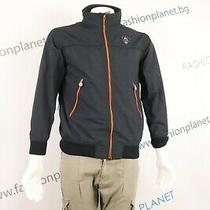 Jean Paul Michel Jr Jacket Junior's Blue Bomeber Windproof Collar Lined Sz 14 Photo