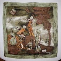 Jeanne Lanvin Vintage Silk Scarf France - Designed by Castillo Photo