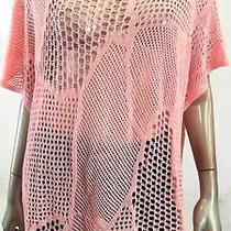 Jeanne Pierre Misses Womens Crochet Pullover Sweater Sz L Blush Solid Sale Us Photo